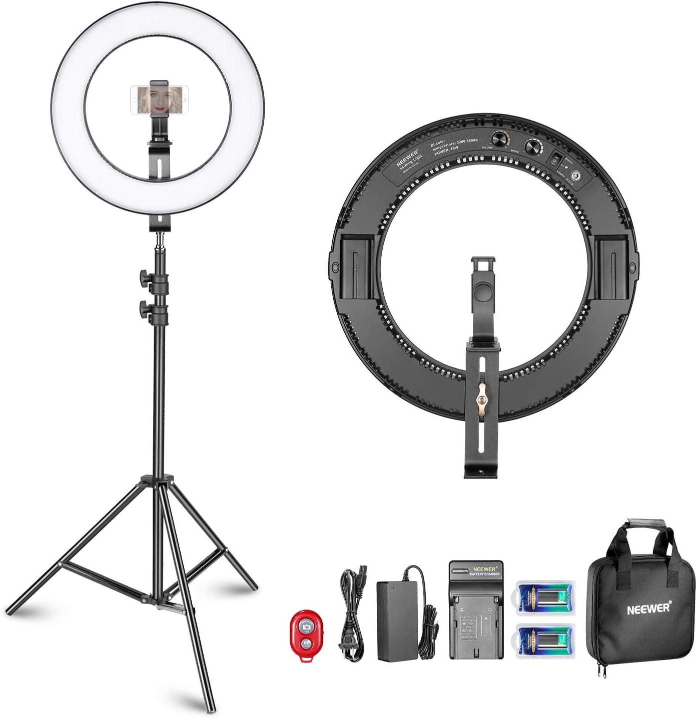 SIWEI Anillo de Luz LED Luz de Anillo de Estudio LED Regulable 4 L/ámpara de Video con Foto Led de 7 Pulgadas para Selfie//Maquillaje//Video de Youtube//Vlogs//Transmisi/ón en Vivo