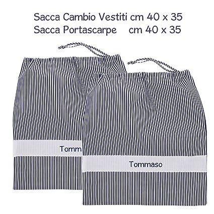 coccole- Bolsa guardería Scuola Materna y asilo nido – Azul – 3 – 5 años