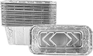 Aluminum BBQ Foil Pans, Drip Pans Grill Grease Trays Compatible Blackstone Accessories 28 and 36 Inch Grills - 20 Pack