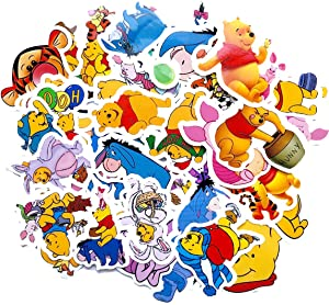 Winnie The Pooh Stickers 40pcs Decals for Laptops Water Bottles Toys and Gifts for Teens,Girls,Perfect for Laptop,Hydro Flask,Phone,Skateboard,Travel  Extra Durable Vinyl (Winnie The Pooh)