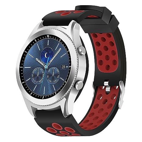 hagibis para Samsung Gear S3 Frontier/Samsung Gear S3 Clásico/Reloj Samsung Galaxy Reloj con Correa de 46 mm, 22 mm Sólido Reemplazo de Metal de Acero ...