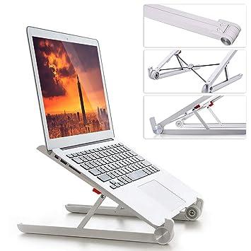 Soportes de Regazo, Soporte para Laptop Ajustable Portátil y Plegable Diseño Ergonómico Ventilado Montaje del