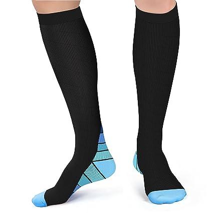 Calcetines de compresión para hombres y mujeres, Acelec BEST Graduated Athletic Fit para correr,