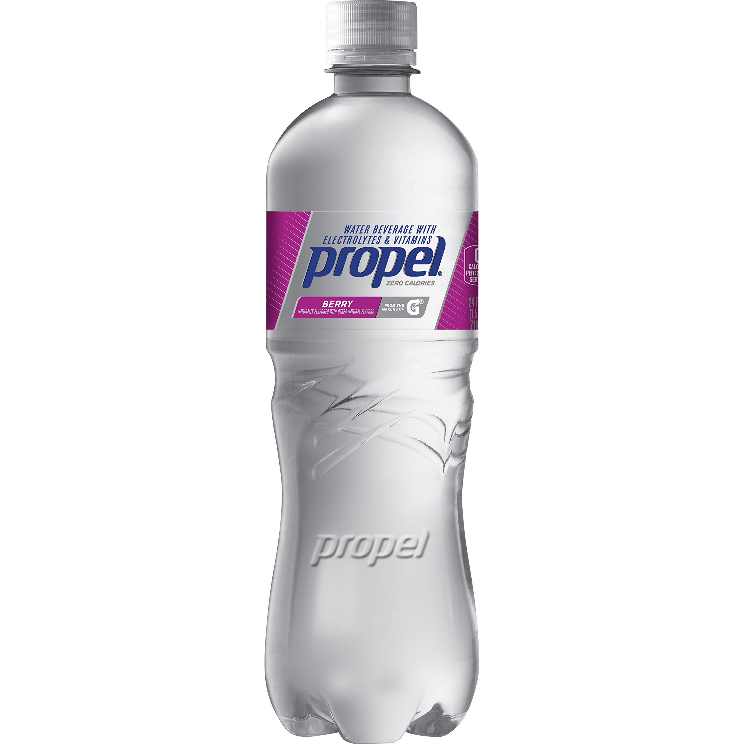 Propel, Berry, Zero Calorie Water Beverage with Electrolytes & Vitamins C&E, 24 Fl Oz (Pack of 12)