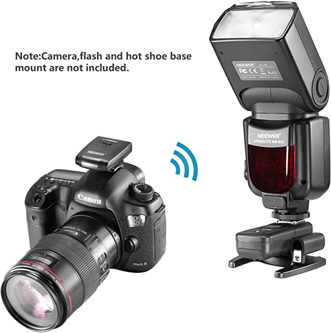Neewer Set Disparador 16 Canal Inalámbrico Flash Speedlite Radio ...