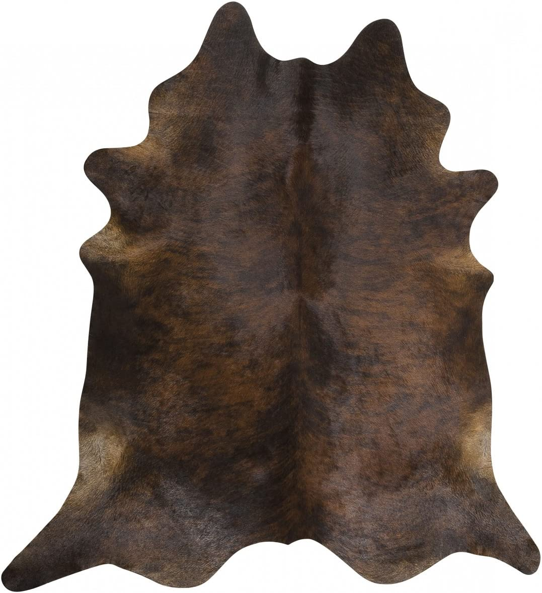 Dark Brindle by Rodeo Cowhide Rug Hair on Cowhide Leather Rug Great Decoration Essential Western Decor Must Have 6X6