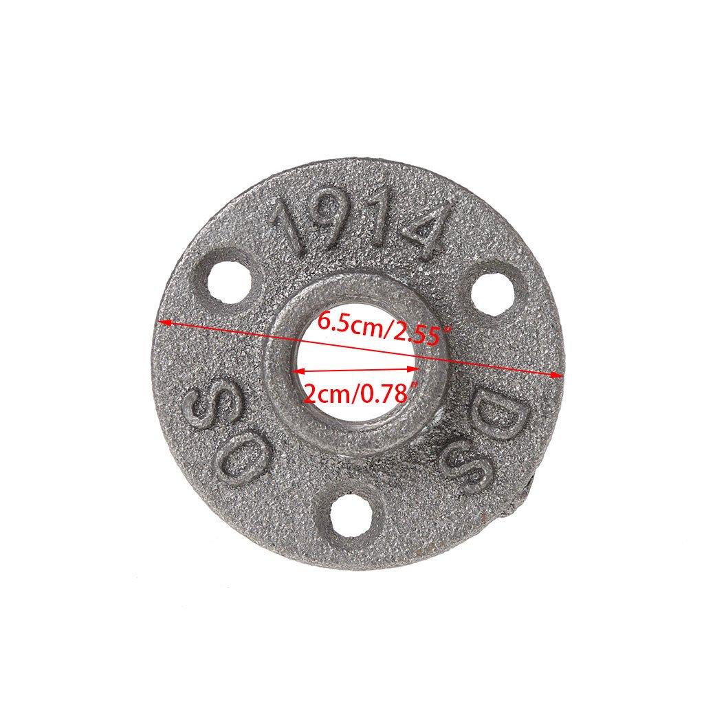 Menitn Bride de plancher 1//2 Provisions de Support /étag/ère industriel Bride de plancher Tuyau de fer Raccords 10