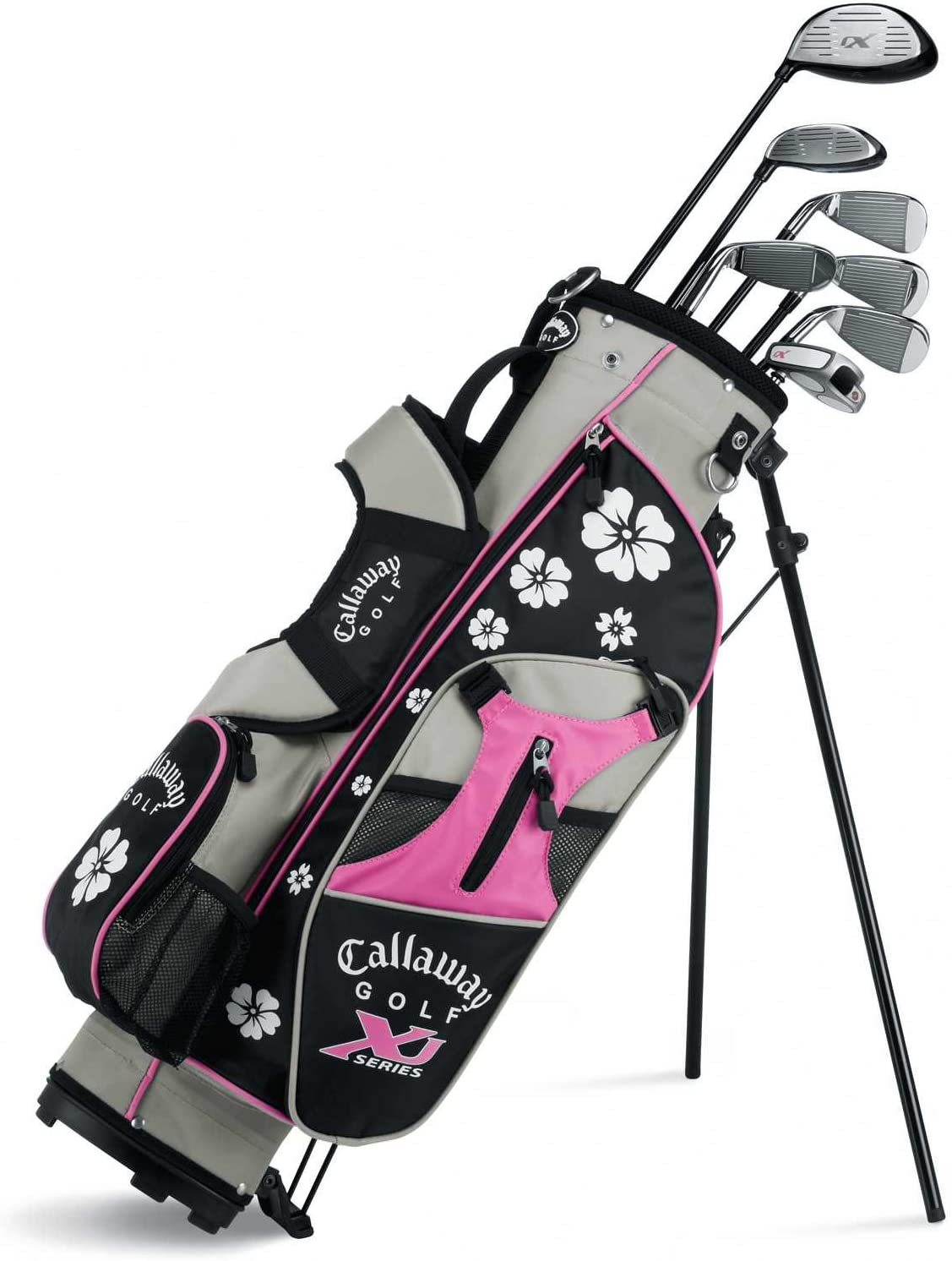 Amazon Com Callaway Xj Junior 11 Piece Girl S Golf Club Set 9 12 Years Old Left Hand Golf Club Complete Sets Sports Outdoors