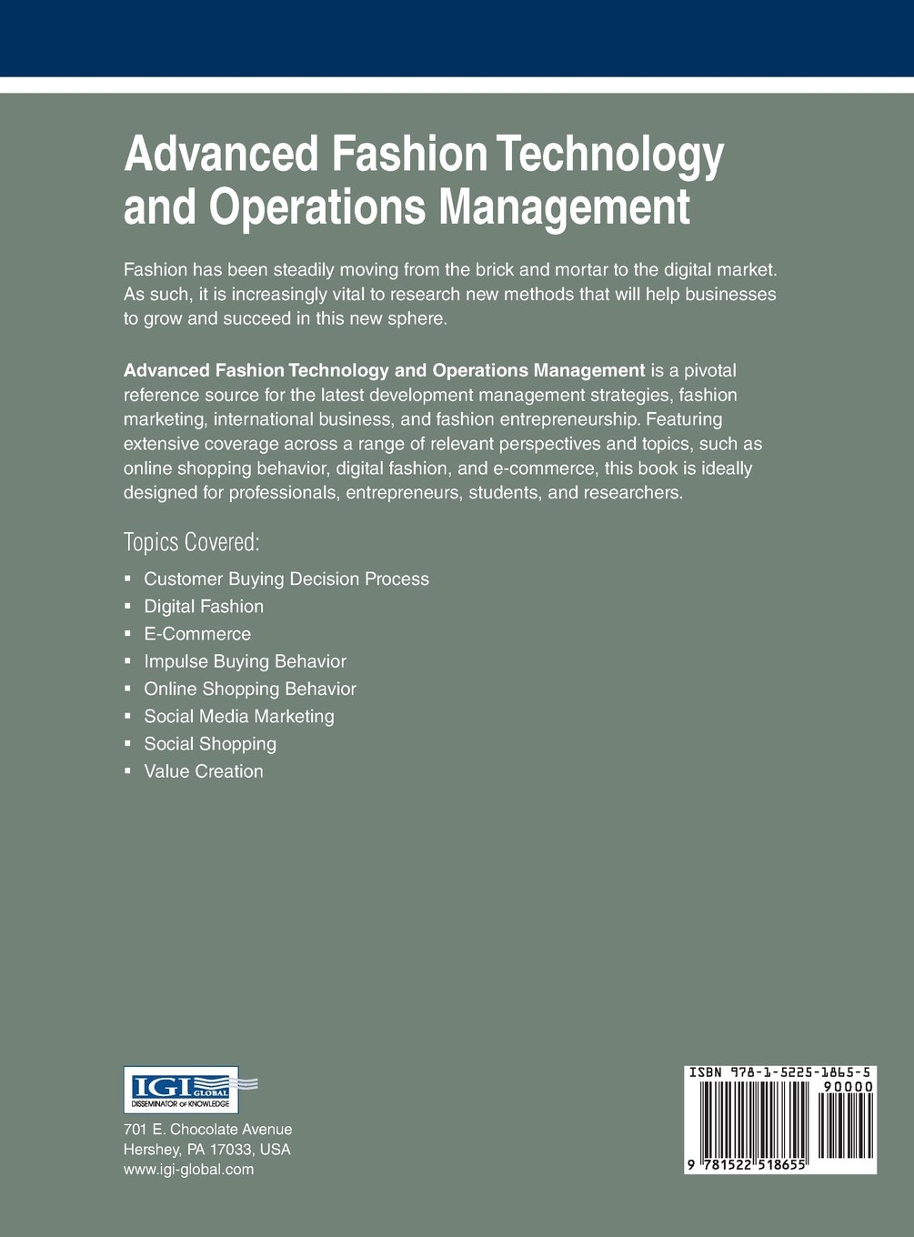 advanced fashion technology and operations management advances in advanced fashion technology and operations management advances in business information systems and analytics co uk alessandra vecchi