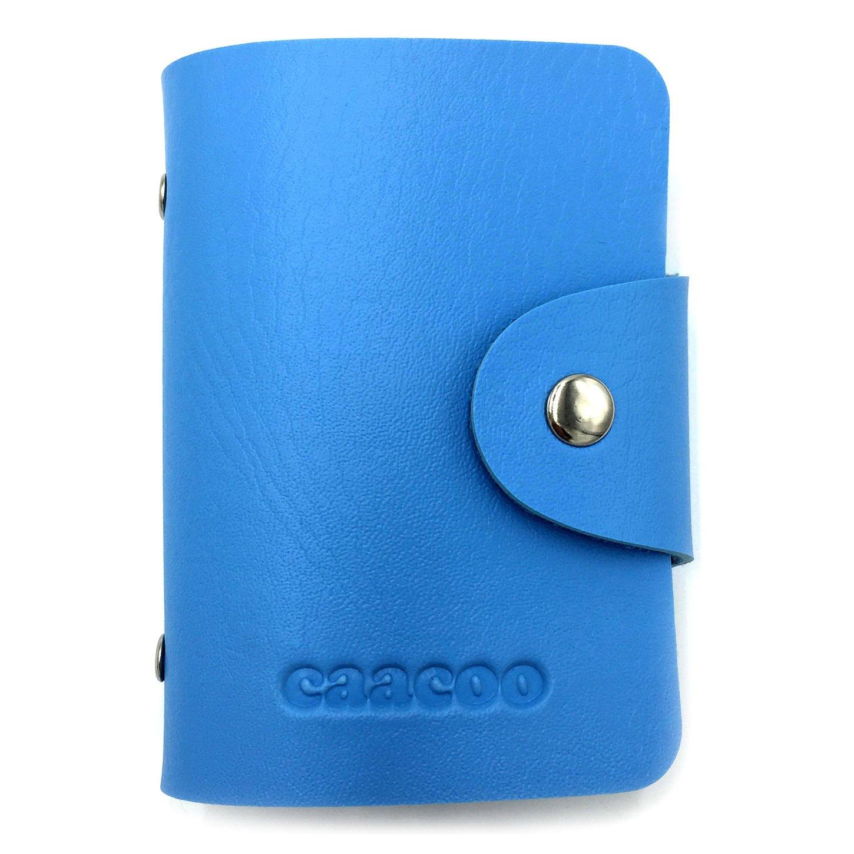 Porte-cartes de Cr/édit pour les Femmes Homme Bleu 24 Fentes