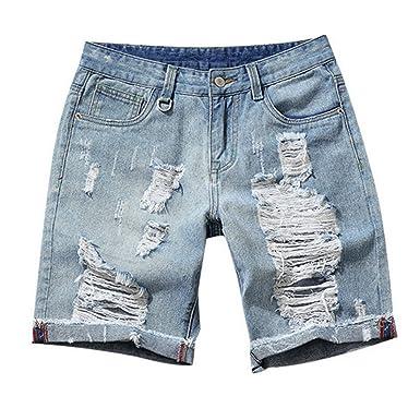 09576eb460d Hzcx Fashion men summer straight slim pattern classic denim shorts jean  capris DSA022-GK23-