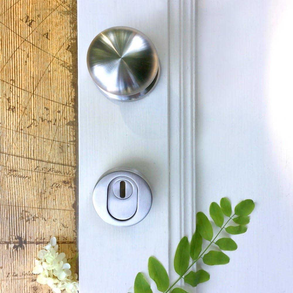 Antikas - TOP - acero inoxidable ALTA CALIDAD - pomo con cerradura de seguridad puerta de la casa PZ: Amazon.es: Bricolaje y herramientas