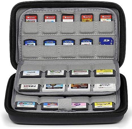 Sisma Funda de juegos para 72 cartuchos Nintendo Switch 3DS DS 2DS ...