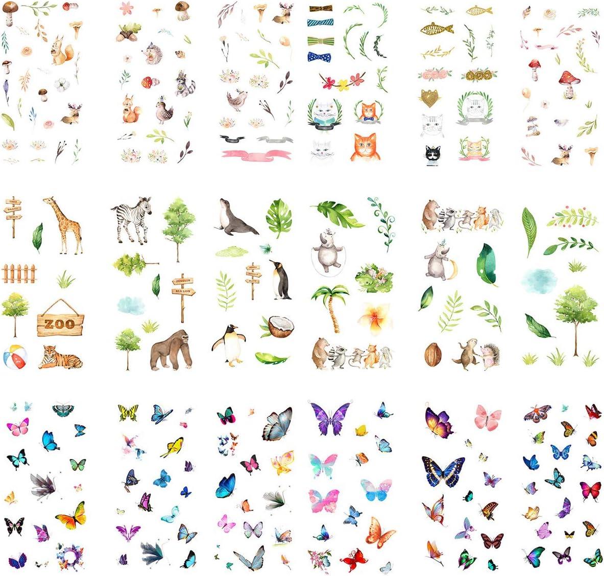 Cute Kawaii Cartoon Cat Rabbit Sticker DIY Diary Scrapbook Deco Decal Tag Crafts