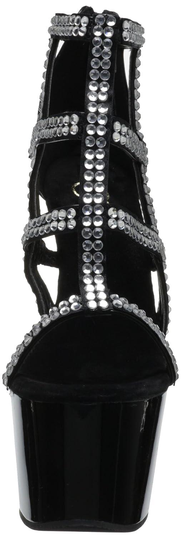 Pleaser Women's Adore-798 Platform Sandal B008660PKK 9 B(M) US|Black Polyurethane