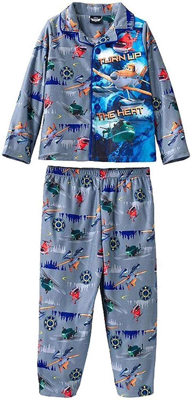 Disney Planes Boys Turn Up The Heat Coat Style Pajama Set Toddler Sizes 2T-4T