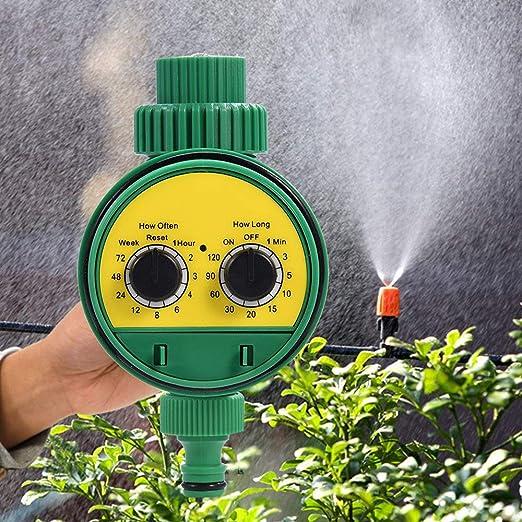 Programador de riego, Temporizador automático, Regulador de riego de jardín multifunción con Cubierta Protectora Impermeable, para jardín Invernadero Agricultura Huerto: Amazon.es: Jardín