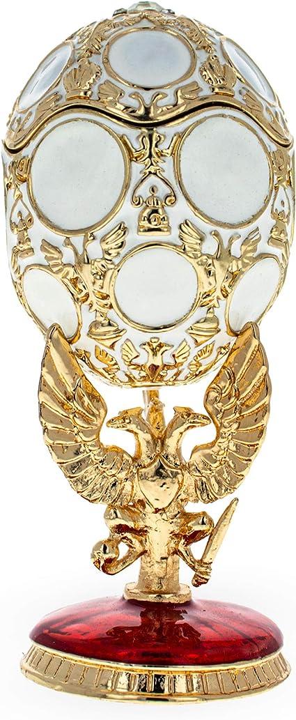 1913 Romanov Tercentenary Royal Glass Egg Ornament