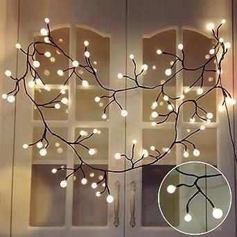 AuBergewohnlich Lichterketten Innen, TOFU LED Lichterkette Kugeln Wasserdicht, Warmweiße  Weihnachtsbeleuchtung, Romantische Deko Für Fenster