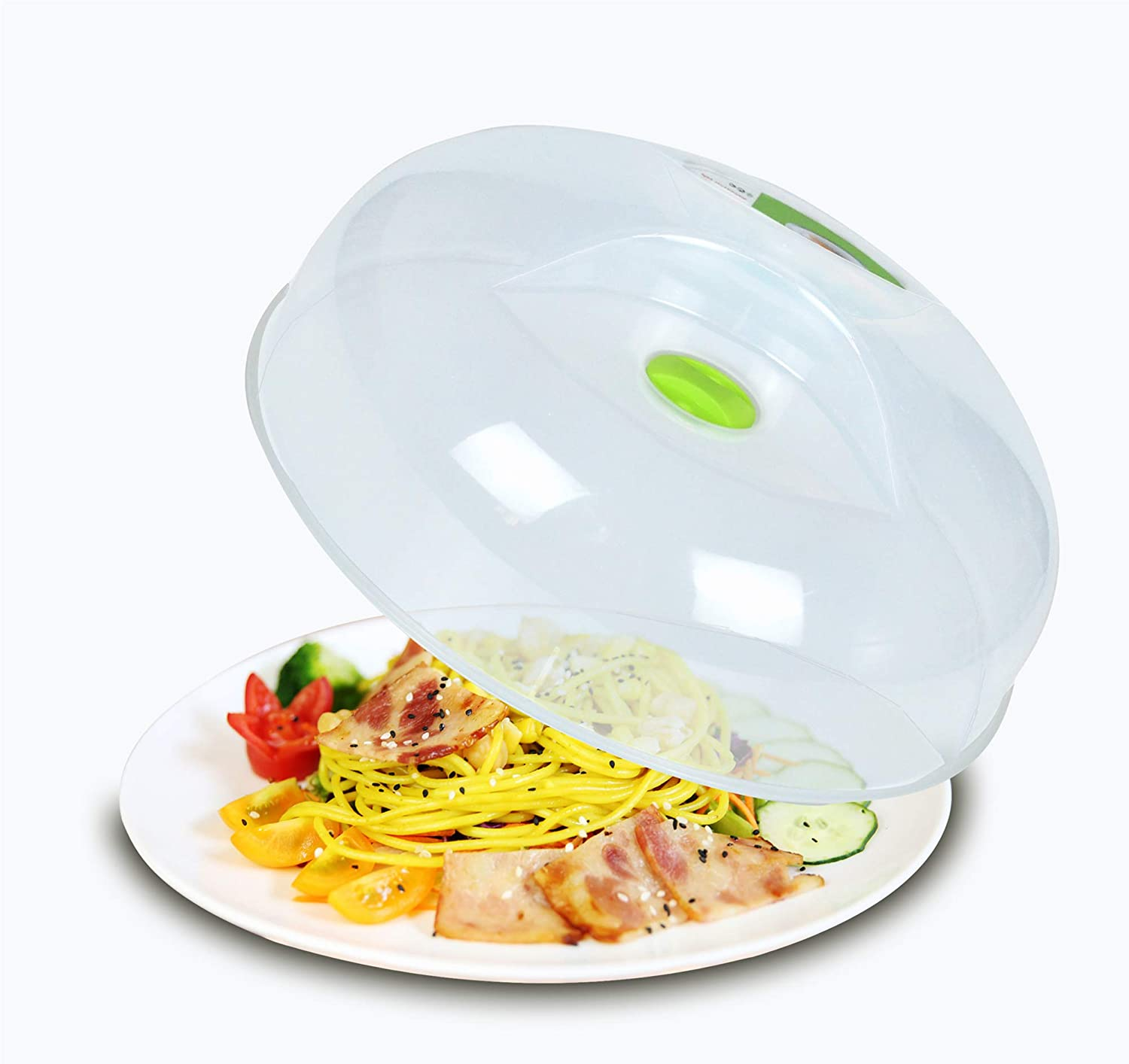 Microwave Splatter Cover for Food Plate Cover Guard Lid With Steam Vent and BPA Free 11.5 Inch,Dishwasher Safe