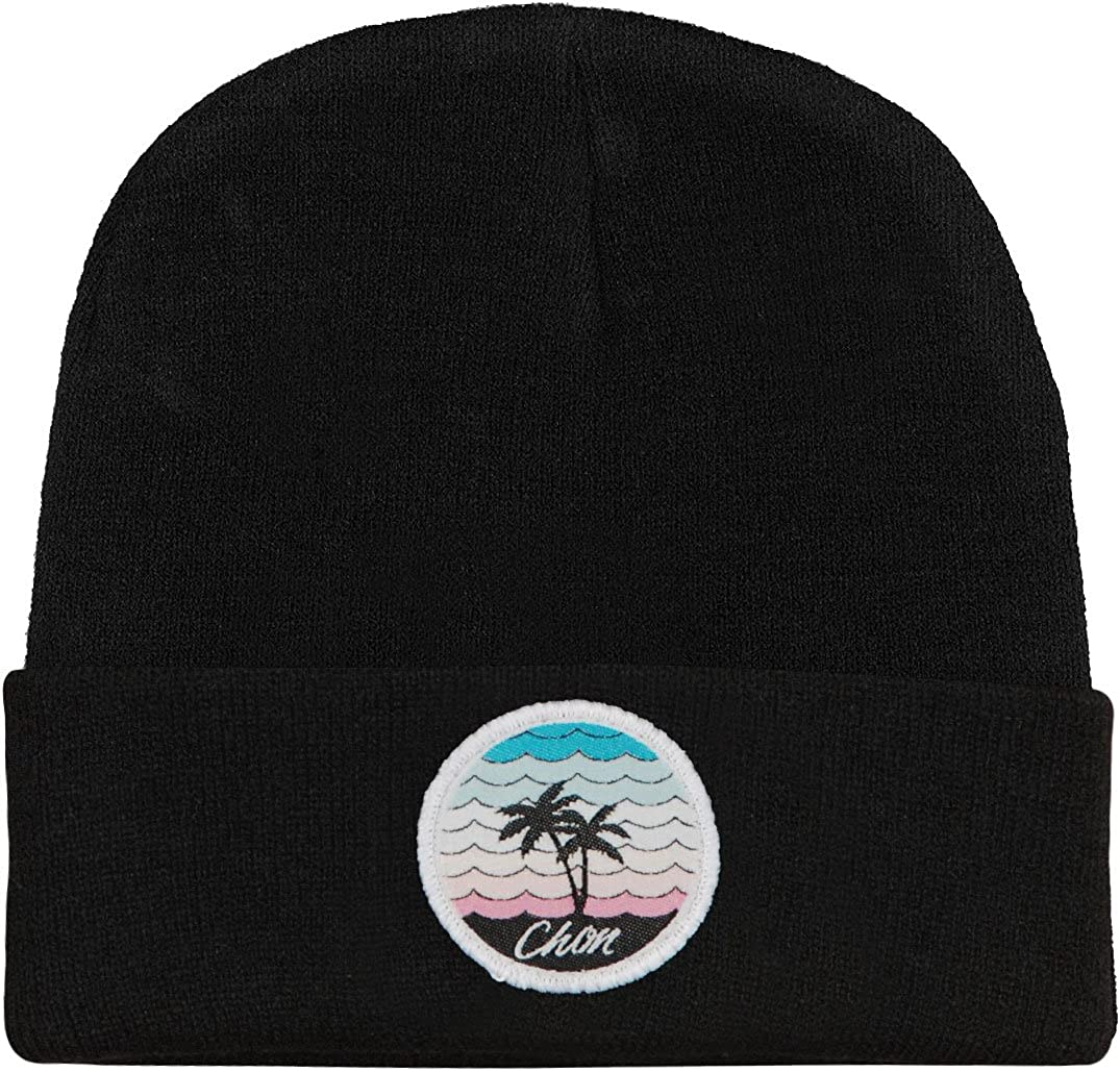 Chon Mens Circle Palm Beanie Black
