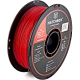HATCHBOX 3D PLA-1KG1.75-RED PLA 3D Printer Filament, Dimensional Accuracy +/- 0.05 mm, 1 kg Spool, 1.75 mm, Red