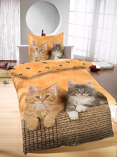 Giro de la ropa de cama gatos ropa de cama de 135 x 200 cm ...