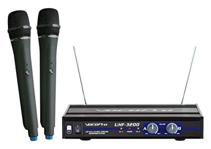 amazon com vocopro uhf 3200 uhf dual channel wireless microphone rh amazon com VocoPro Speakers VocoPro VHF-3300