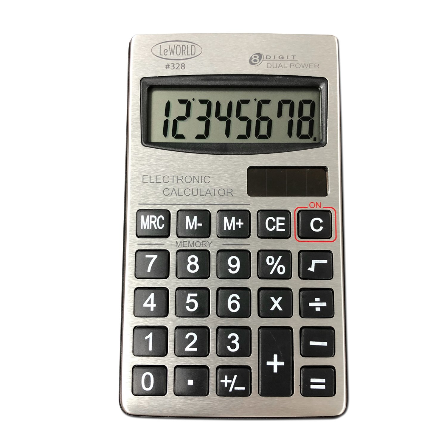 Small Dual Power Standard Function Basic 8 Digit Calculator Digital Pocket Size Value Pack Assortit