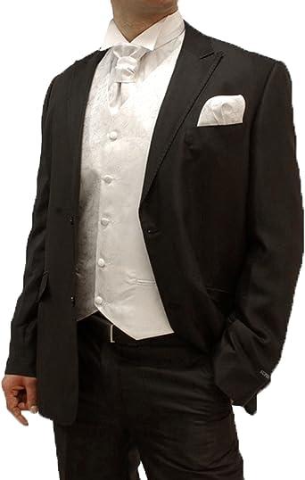Boda Mode 8 piezas para Novio Boda Traje Negro + boda chalecos Juego Color Blanco + boda Camisa Blanco Anzuggrösse Gr. 54 Kragenweite 39: Amazon.es: Ropa y accesorios