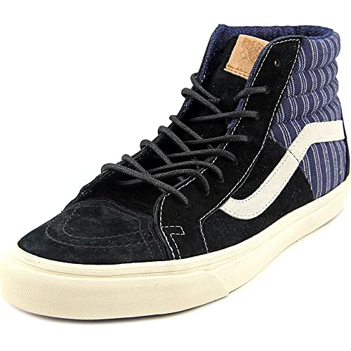 5fdf685246 Vans Men s Sk8-Hi 46 Ca Hickory Mix Black Mid-Top Suede Skateboarding Shoe