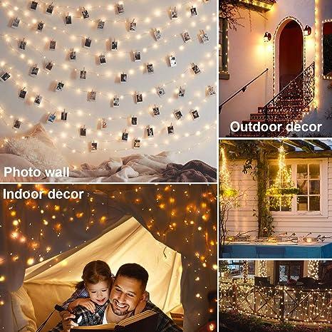 Amazon.com: Innotree - Guirnalda de luces de hadas con ...