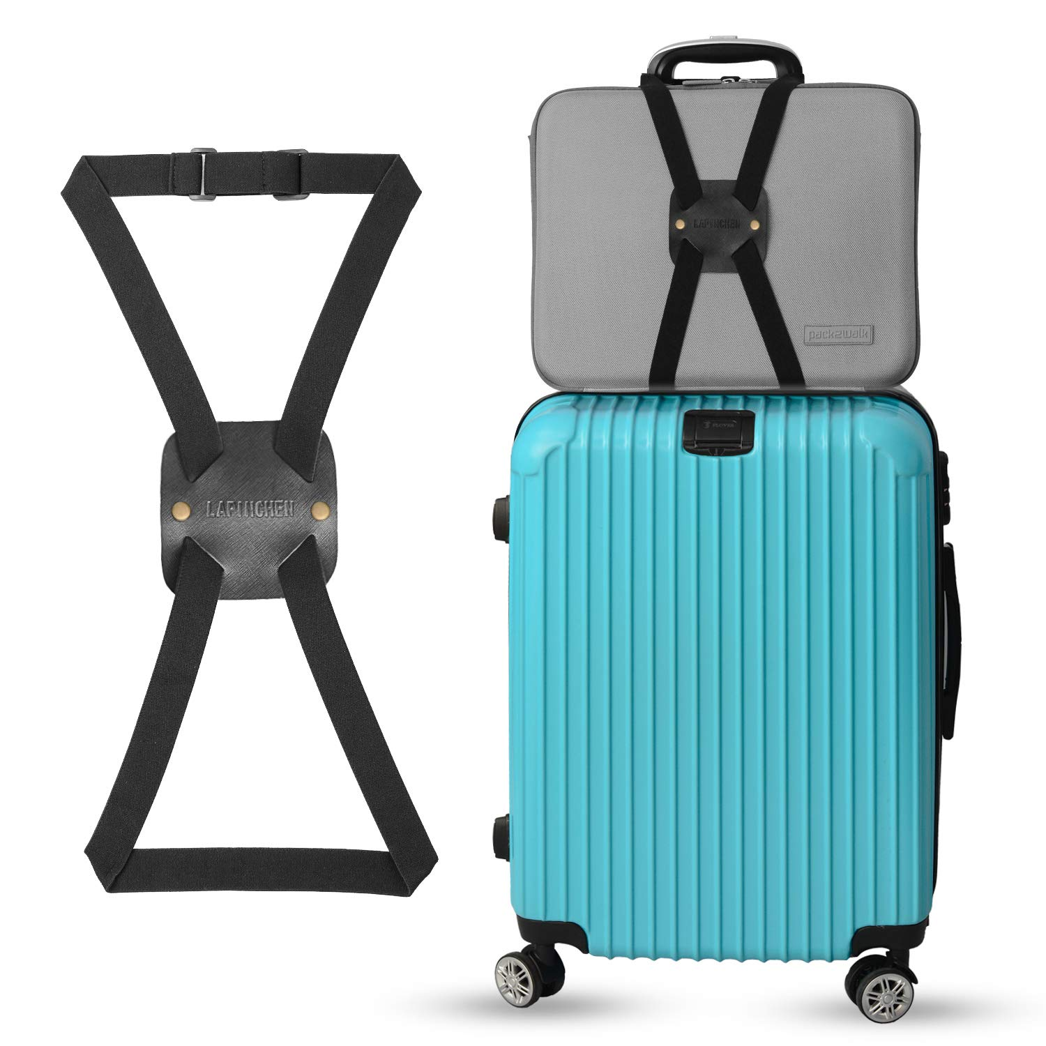 Senzeal Adjustable Travel Luggage Straps Suitcase Strap Belts Travel Bag Accessories 3 Pieces