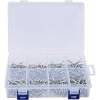 320 stuks blinde klinknagels, 4 maten aluminium popnagels hardware assortiment kit set, voor de bouw, auto's, schepen…