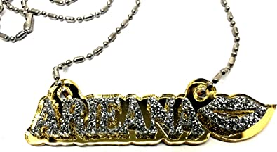 Made to Order Any Name Dazzling and Stunning! Mirror Mania Personalized Name Plate Custom Name Necklace Nameplate Name Laser Cut Diamond Look