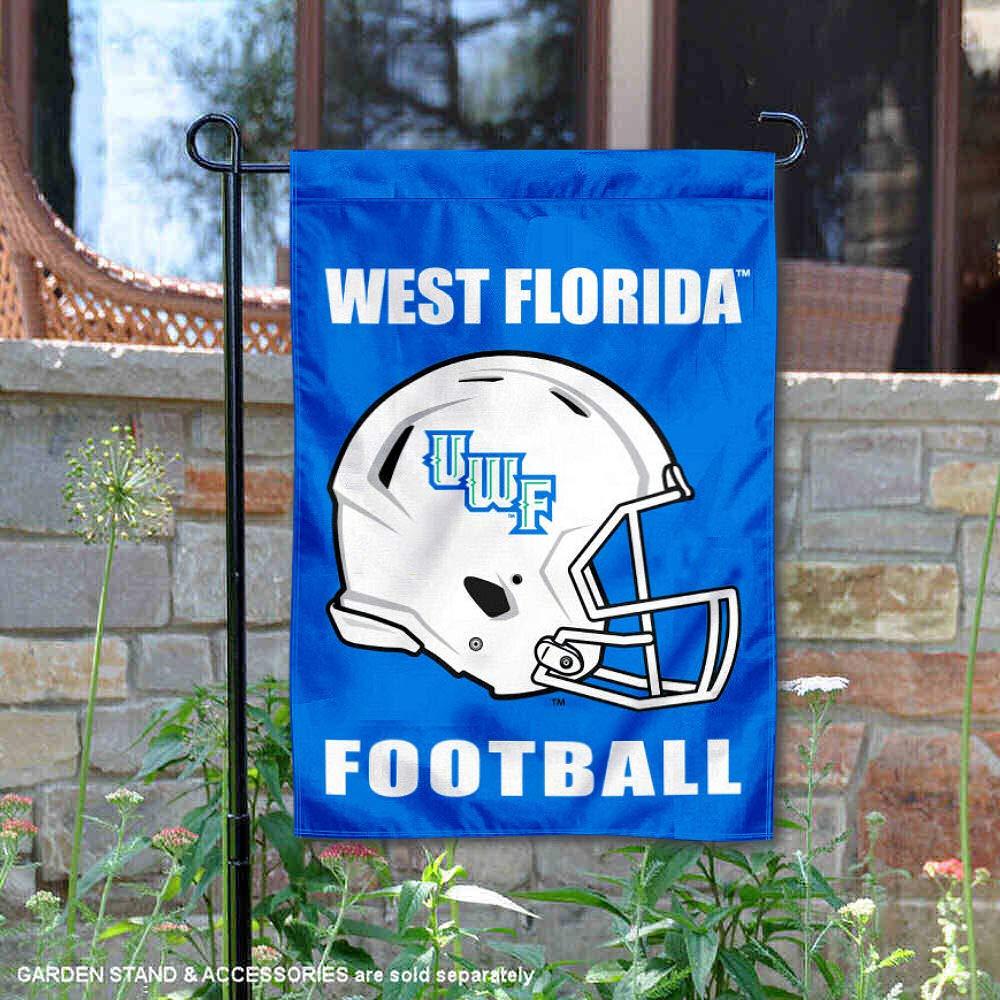 カレッジフラッグとバナーズカンパニー、ウェストフロリダ大学フットボールヘルメットガーデンフラッグ