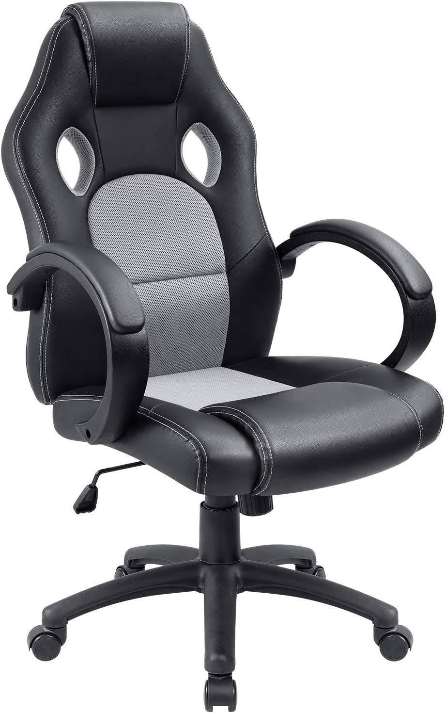 Furmax High Back Office Gaming Chair Computer Desk Chair,Ergonomic Adjustable Racing Chair,Task Swivel Executive Chair with Lumbar Support Gray