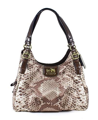 782865ff470f Amazon.com  Coach Madison Python Print Maggie Hobo Handbag  Shoes
