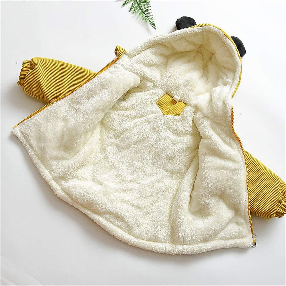 Jchen(TM) Infant Kids Little Girls Boys Cartoon Panda Winter Warm Jacket Hooded Zipper Outerwear Coat for 1-3 Y (Age: 12-18 Months, Yellow) by Jchen Baby Coat (Image #6)