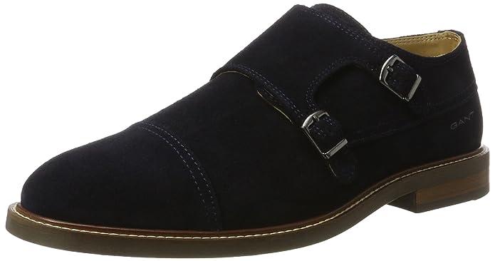 GANTRicardo - Zapatos Planos con Cordones Hombre, Color Azul, Talla 40 EU
