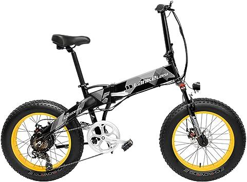 LANKELEISI X2000 20 Pulgadas Bicicleta Grasa Plegable Bicicleta ...