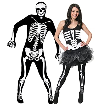 COUPLES COSTUMES - SKELETON COUPLE FANCY DRESS - SEXY LADIES SKELETON OUTFIT WITH TUTU + MENS  sc 1 st  Amazon UK & COUPLES COSTUMES - SKELETON COUPLE FANCY DRESS - SEXY LADIES ...