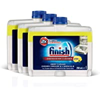 Finish Dishwasher Cleaner Liquid Lemon Triple Pack (3 x 250ml)