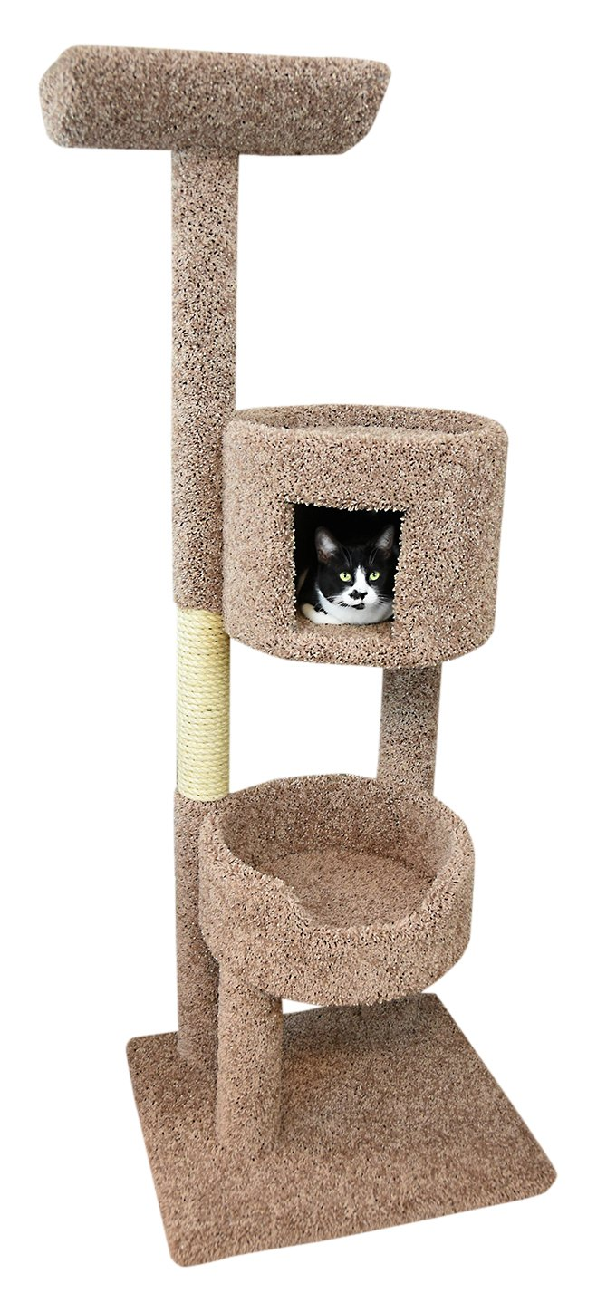 New Cat Condos 67'' Solid Wood Deluxe Cat Tree Tower, Large