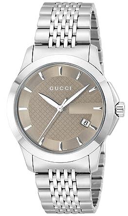 95e3062689d3 [グッチ]GUCCI 腕時計 Gタイムレス ブラウン文字盤 デイト YA126406 メンズ 【並行輸入