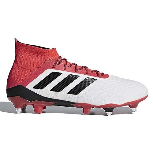 411eee3de889e Adidas Men's Predator 18.1 SG Soft Ground Boots White/Black/Orange ...
