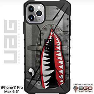 "UAG Apple iPhone 11 Pro MAX [6.5"" Screen] Limited Edition Case Urban Armor Gear by EGO Tactical - P-40 TigerShark Jaws Teeth Warthog"