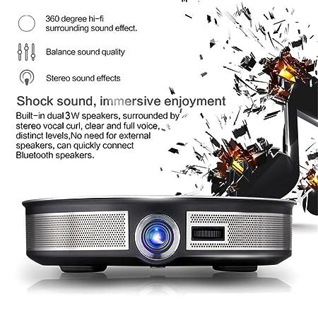 CSQ D8S DLP Ultra HD Proyector 3500 lumens RK3368 Octa-Core 2 G 32 ...