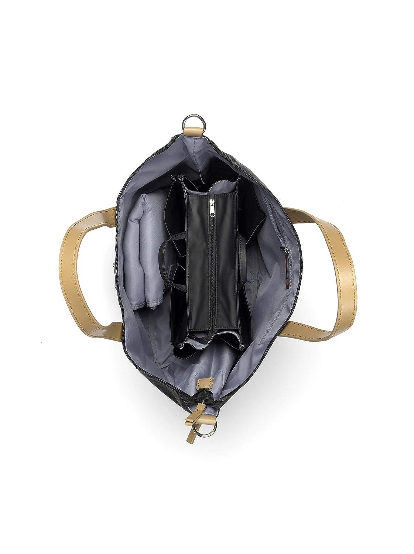 Storksak Wickeltasche Noa in Schwarz inkl Mini Organiser Bag