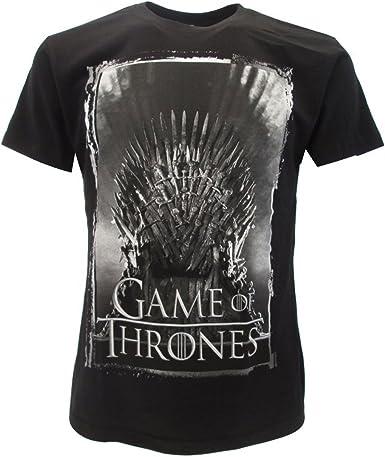 Games of Thrones - Camiseta original de Juego de Tronos, color negro, con etiqueta y etiqueta de originalidad: Amazon.es: Ropa y accesorios